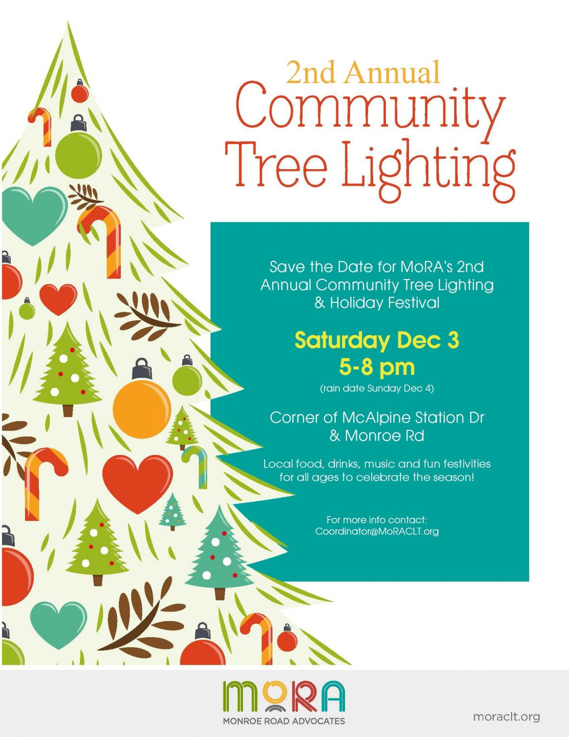 MoRA's 2nd Annual Holiday Festival and Tree Lighting