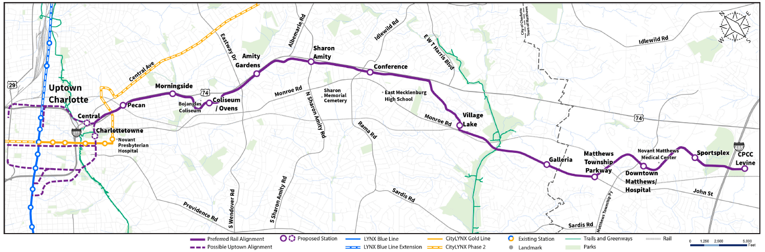 Silver Line Light Rail Update And Mora Area Stations Monroe Road